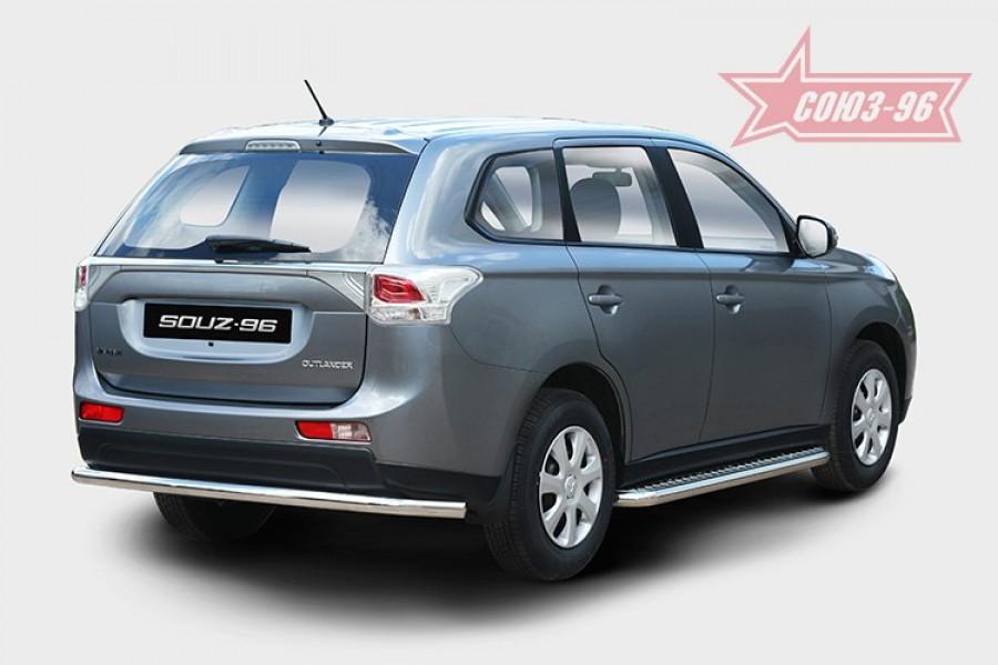 Защита задняя d60 Premium,Mitsubishi Outlander 2012-