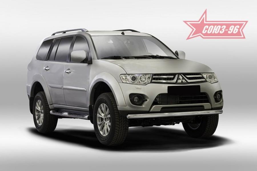 Защита переднего бампера труба d60,Mitsubishi Pajero Sport 2013-