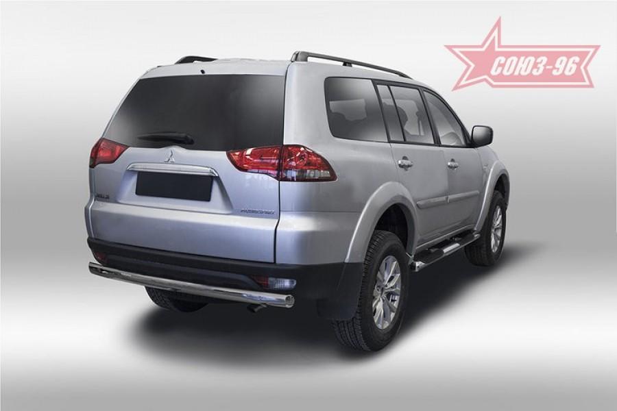 Защита задняя овальная 75х42,Mitsubishi Pajero Sport 2013-