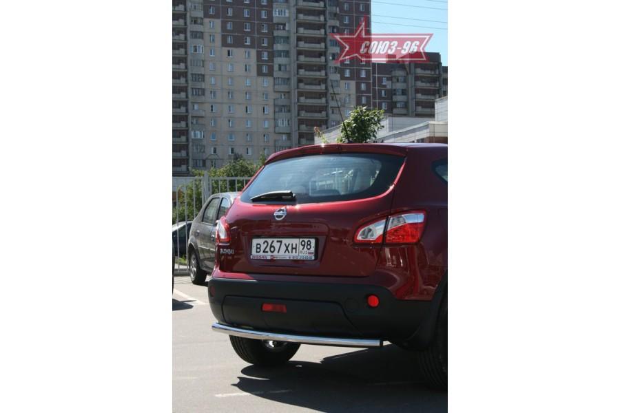 """Защита задняя d 60 """"Nissan Qashqai"""" 2007"""