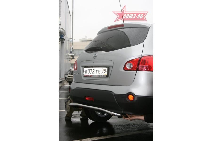 """Защита задняя d 42 """"Nissan Qashqai"""" 2007"""