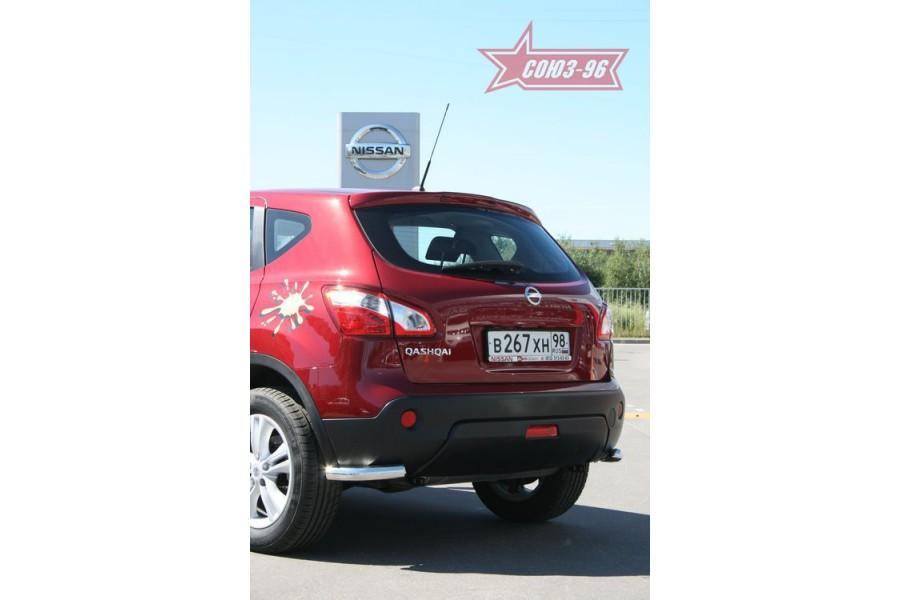 "Защита задняя ""уголки"" d 60 (компл 2шт.) ""Nissan Qashqai"" 2007"