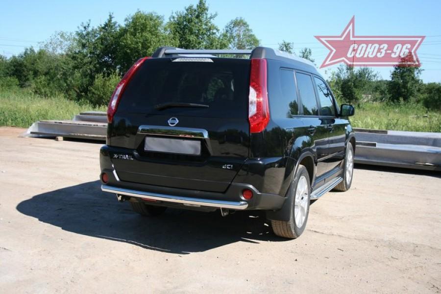 """Защита задняя """"волна"""" d 60 """"Nissan X-Trail"""" 2007-"""