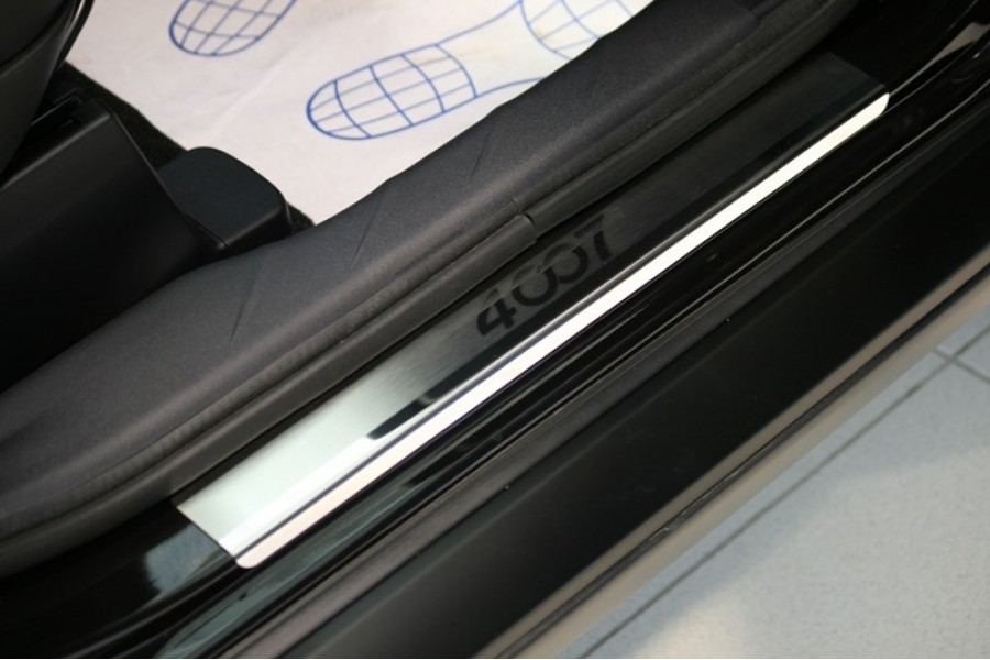 "Накладки на внутр. пороги с логотипом ""Souz-96"" (компл.4шт.) на металл ""Peugeot 4007"" 2007-"