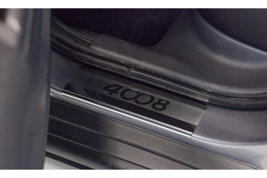 """Накладка на внутренние пороги с логотипом """"Союз-96"""" (компл. 4шт.),Peugeot 4008 2012-"""