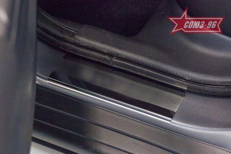 Накладка на внутренние пороги без логотипа (компл. 4шт.),Peugeot 4008 2012-