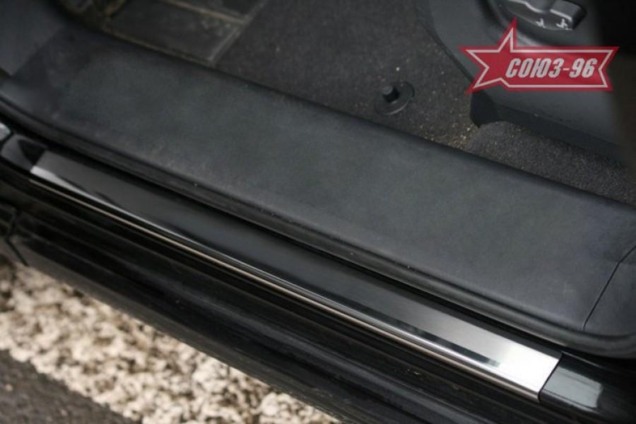 "Накладки на внутр. пороги без логотипа (компл.4шт.) на металл ""Renault Koleos"" 2008-"