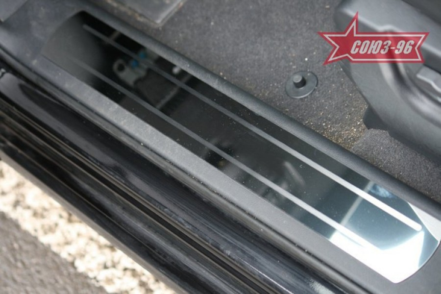 "Накладки на внутр. пороги без логотипа (компл.4шт.) на пластик ""Renault Koleos"" 2008-"