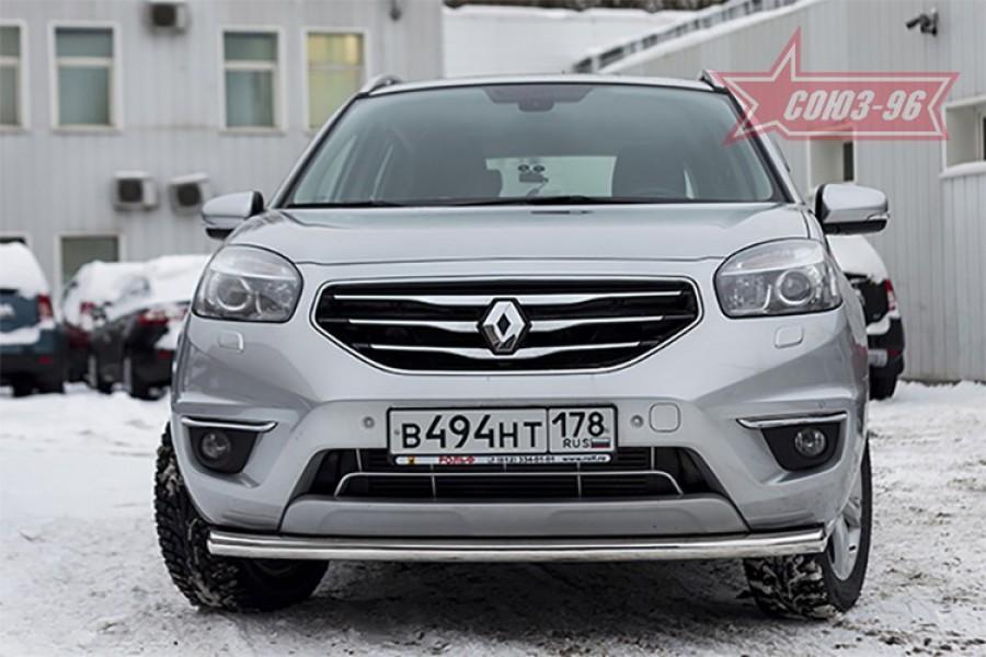 Защита переднего бампера труба d60 Premium,Renault Koleos 2012-