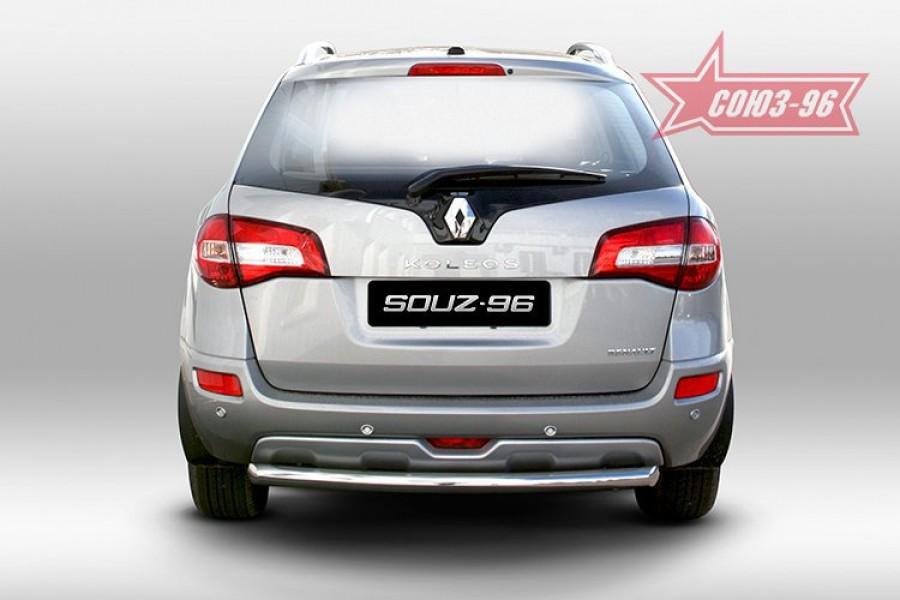 """Защита заднего бампера d 60 короткая """"Renault Koleos"""" 2008-"""