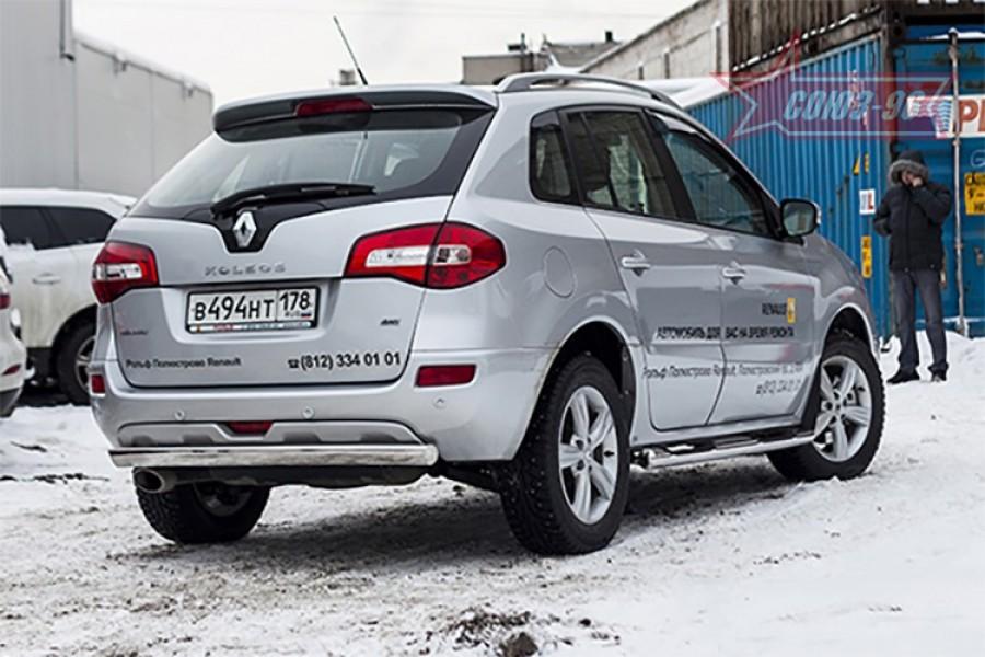 Защита задняя овальная 75х42,Renault Koleos 2012-