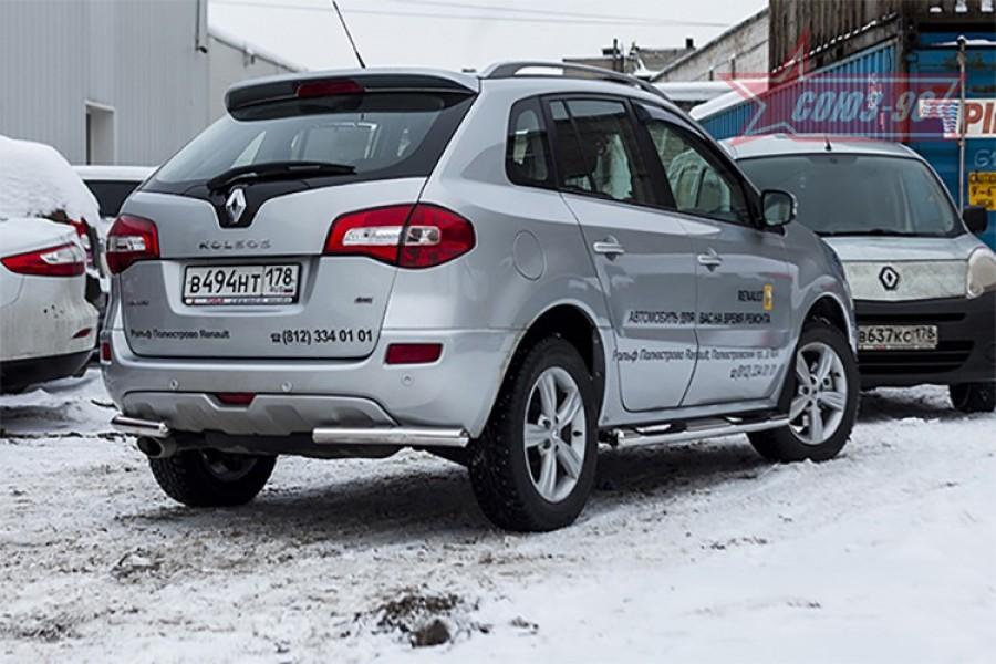 Защита задняя уголки d60,Renault Koleos 2012-