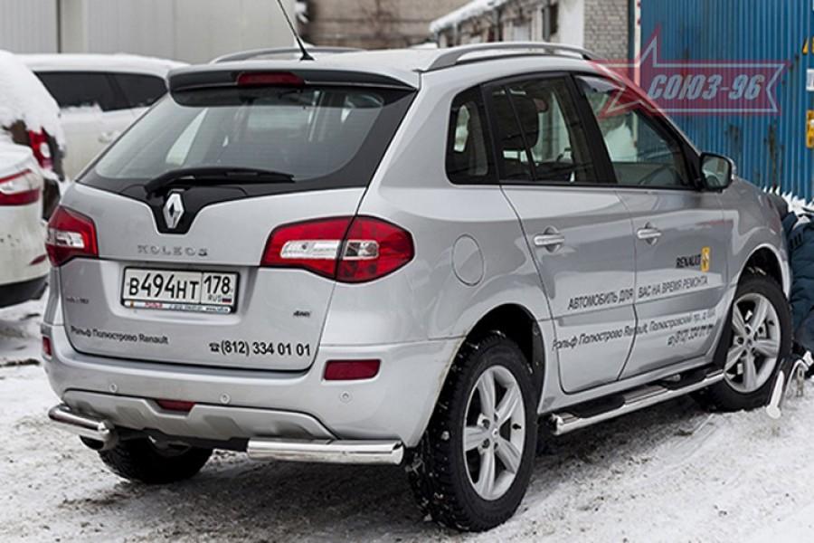 Защита задняя уголки d76,Renault Koleos 2012-