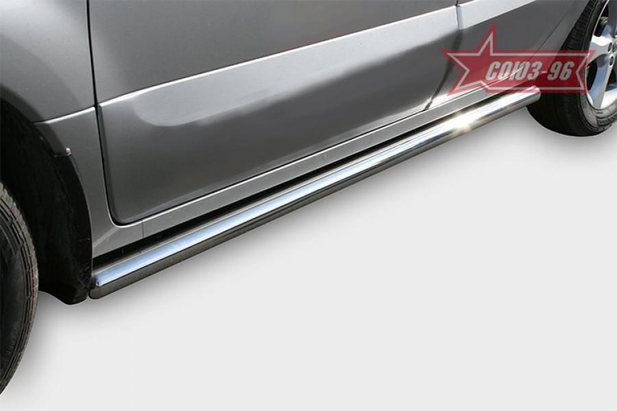 "Пороги труба d 60 (компл 2шт) ""Renault Koleos"" 2008-"