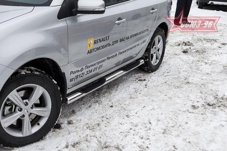 Пороги с проступями d76,Renault Koleos 2012-