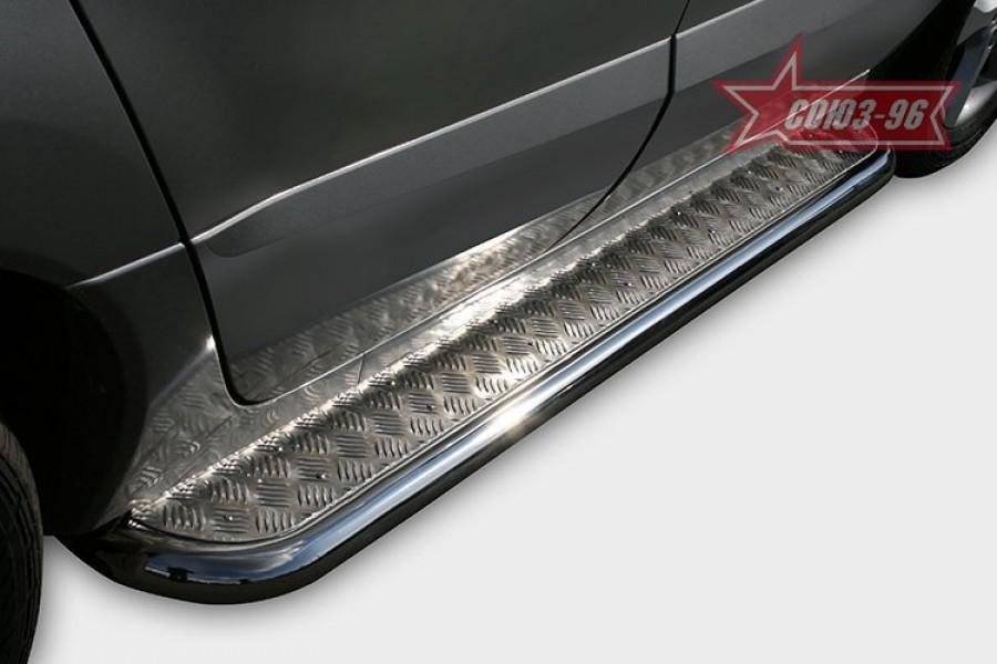 """Пороги c листом d 42 (компл 2шт) """"Renault Koleos"""" 2008-"""