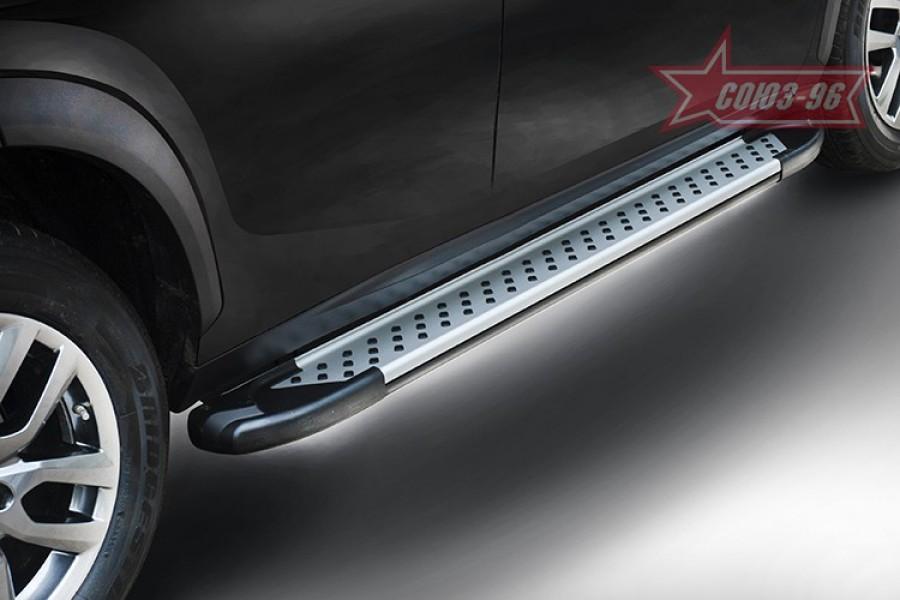 Пороги алюминиевый профиль,Renault Koleos 2012-