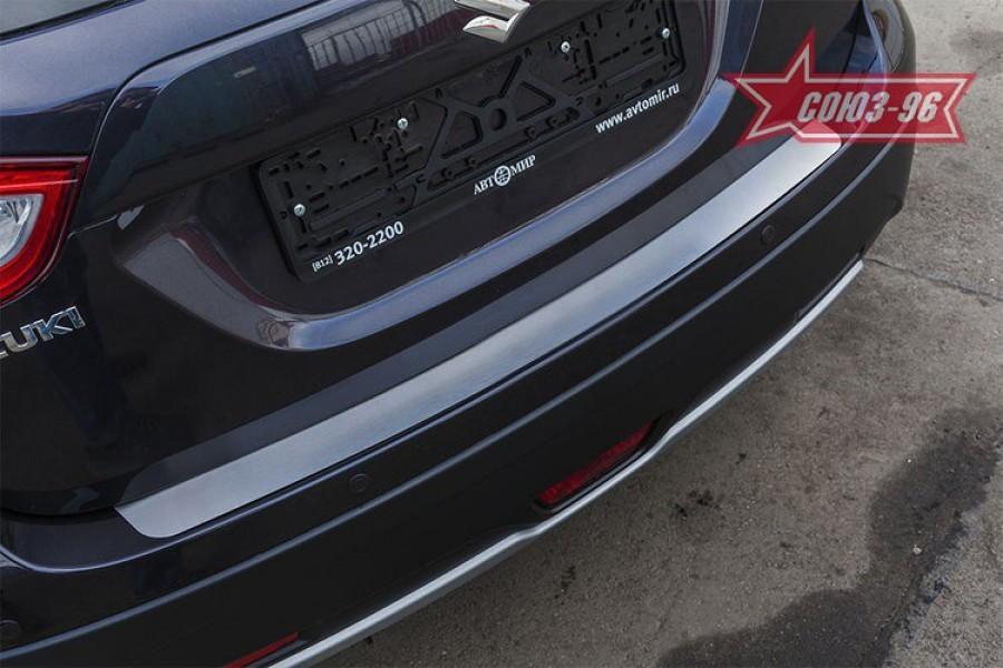 Накладка на задний бампер без логотипа, Suzuki SX-4 NEW 2014-