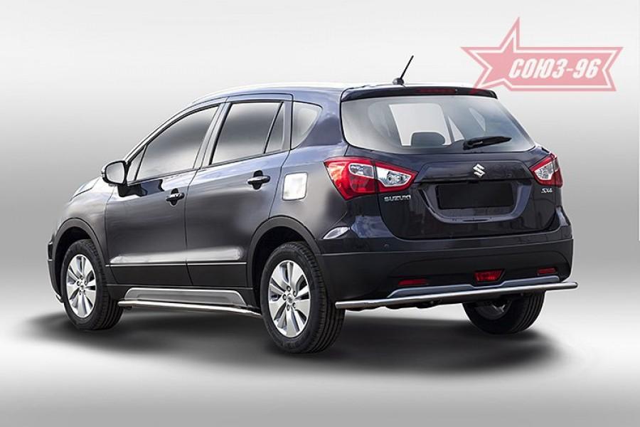 Защита задняя d42,Suzuki SX-4 NEW 2014-