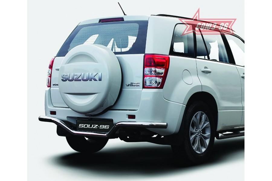"""Защита задняя """"волна"""" d 60 """"Suzuki Grand Vitara"""" 2008- (5-ти дверная)"""