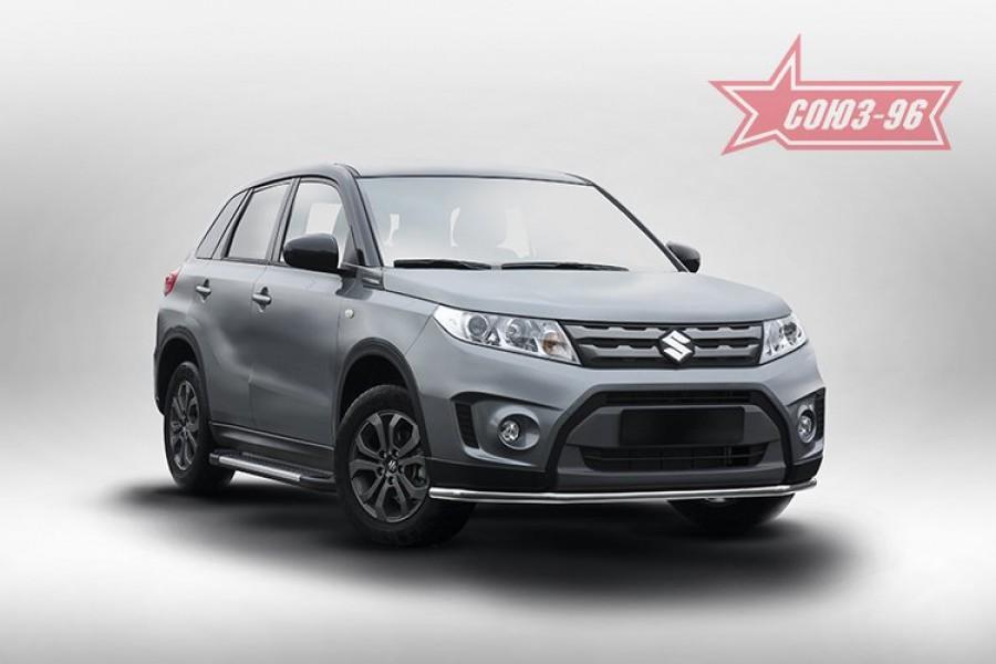 Защита переднего бампера труба d42 Premium,Suzuki Vitara 2015-