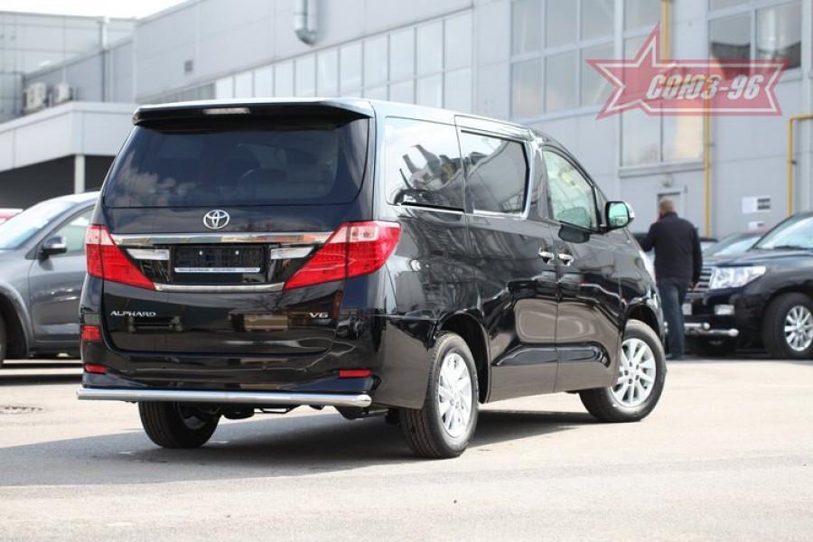 Защита задняя d60,Toyota Alphard 2012-