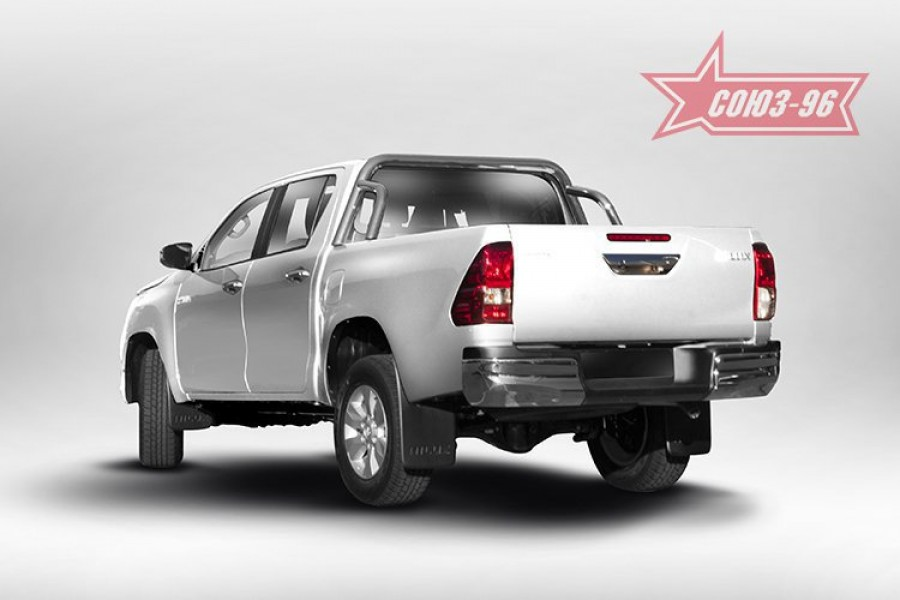 Защита задняя рама в кузов d60,Toyota HiLux 2015-