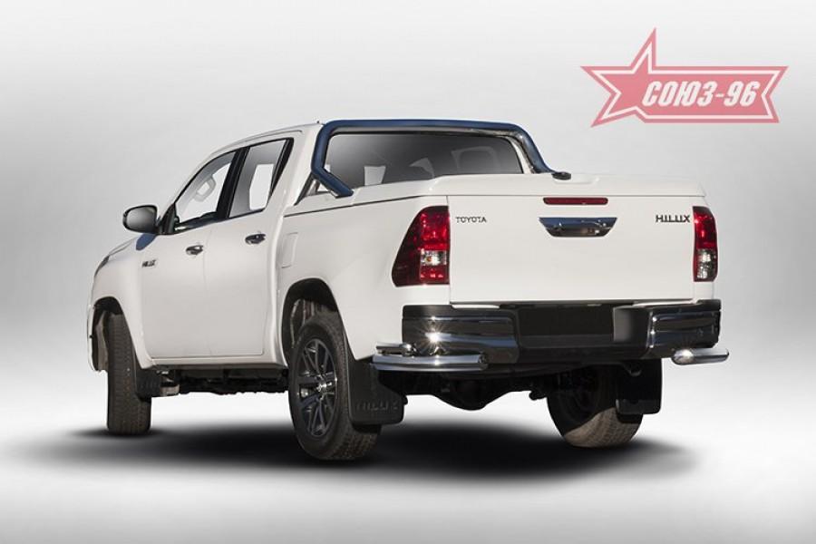 Защита задняя уголки d76/42 двойные,Toyota HiLux 2015-