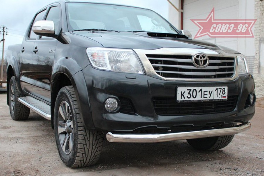 """Защита переднего бампера d 76""""Toyota HiLux"""" 2010-"""