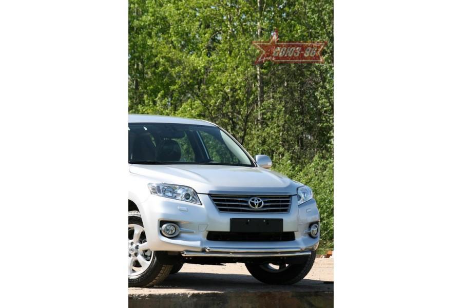 """Защита переднего бампера d 42/42 двойная """"Toyota RAV-4"""" 2010-"""