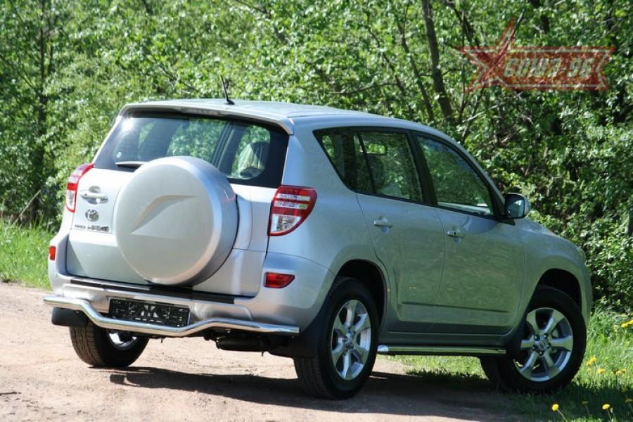 """Защита задняя """"волна"""" d 60 """"Toyota RAV-4"""" 2010-"""