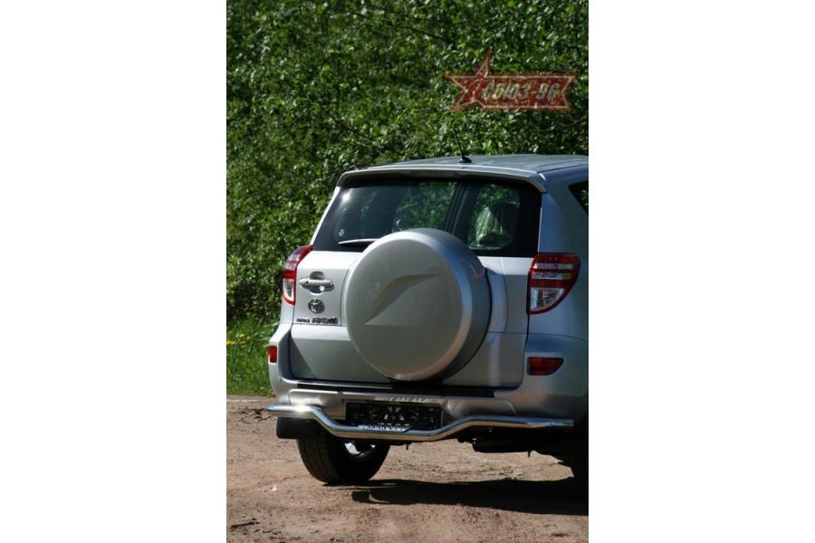 """Защита задняя """"волна"""" d 60 c декор. элементом из нерж. стали """"Toyota RAV-4"""""""