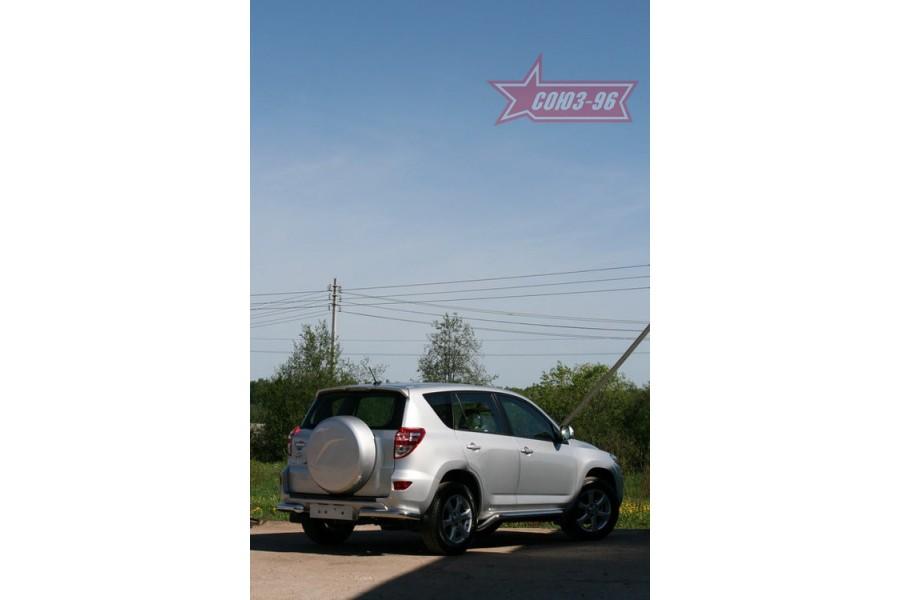 "Защита задняя «уголки» d 76 (компл 2шт) ""Toyota RAV-4"" 2010-"