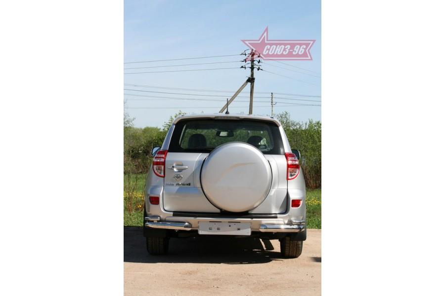 """Защита задняя «уголки» d 76/42 (компл 2шт) двойные """"Toyota RAV-4"""" 2010-"""