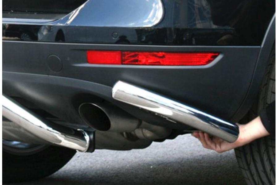 """Защита заднего бампера """"уголки"""" d 60 (компл 2шт.) """"Volkswagen Touareg"""" 2010-"""