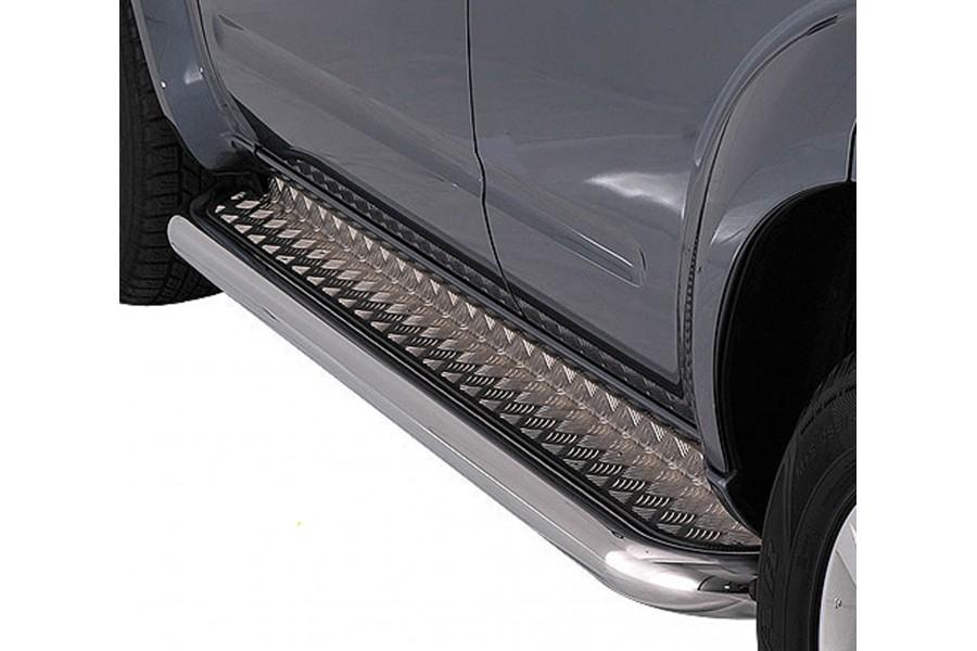 Пороги d-76 с алюминиевым листом (для Toyota Tundra Double Cab)