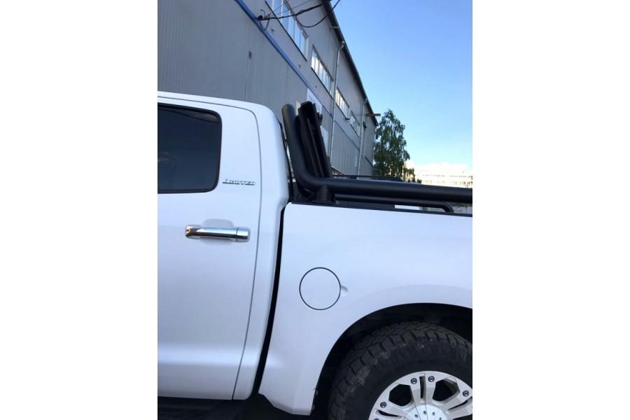 Дуга в кузов одинарная d-76, сталь, окрашенная порошковой краской, цвет-черный (для Toyota Tundra CrewMax) возможна установка с крышкой кузова Backflip-2