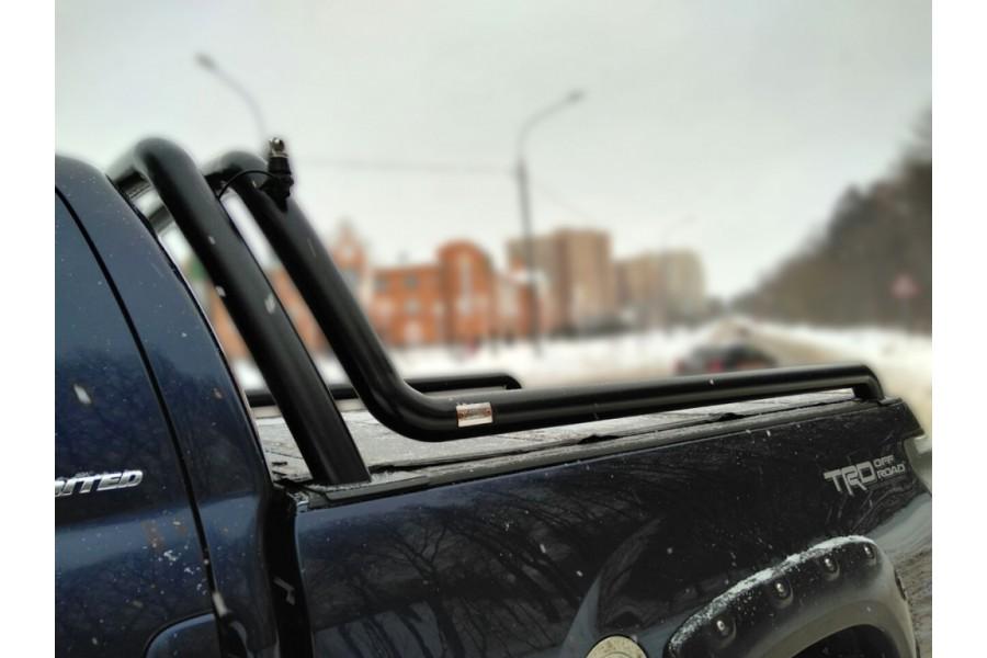 Дуга в кузов двойная d-76, сталь, окрашенная порошковой краской, цвет-черный (для Toyota Tundra CrewMax) возможна установка с крышкой кузова Backflip-2