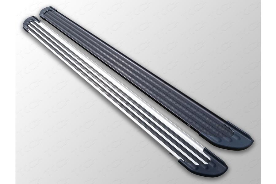 """Пороги алюминиевые """"Slim Line Black"""" 1820 мм"""