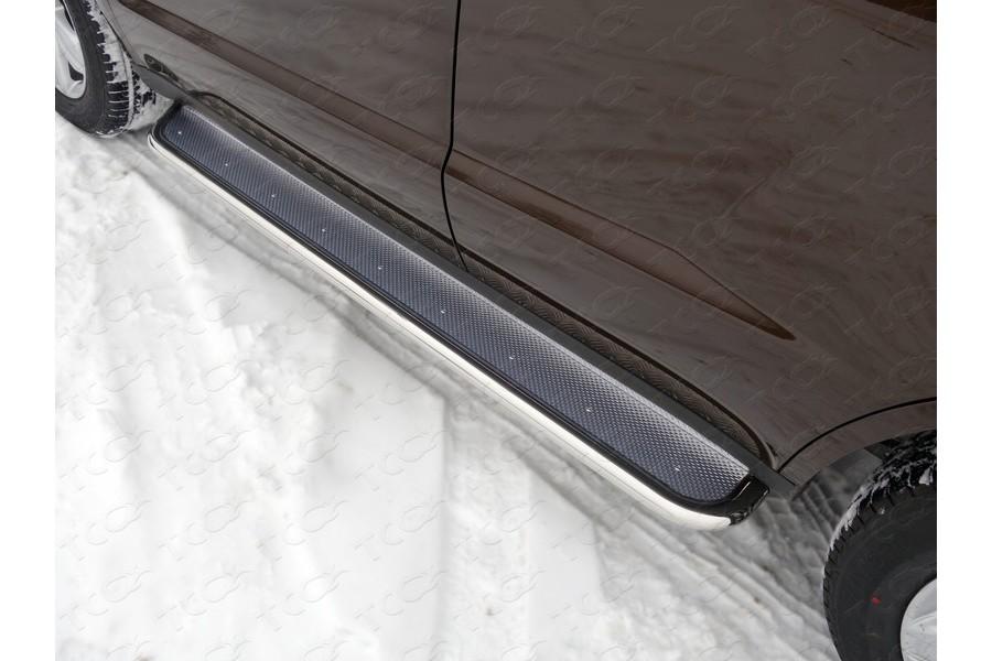 Пороги с площадкой (нерж. лист) 42,4 мм
