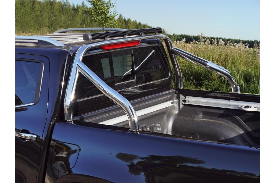 Защита кузова 75х42 мм со светодиодной фарой