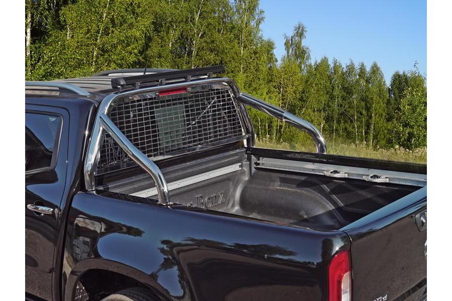 Защита кузова и заднего стекла (без надписи) 75х42 мм со светодиодной фарой