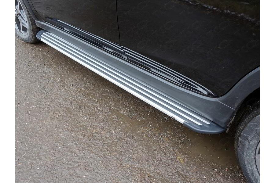 Пороги алюминиевые ''Slim Line Silver'' 1820 мм