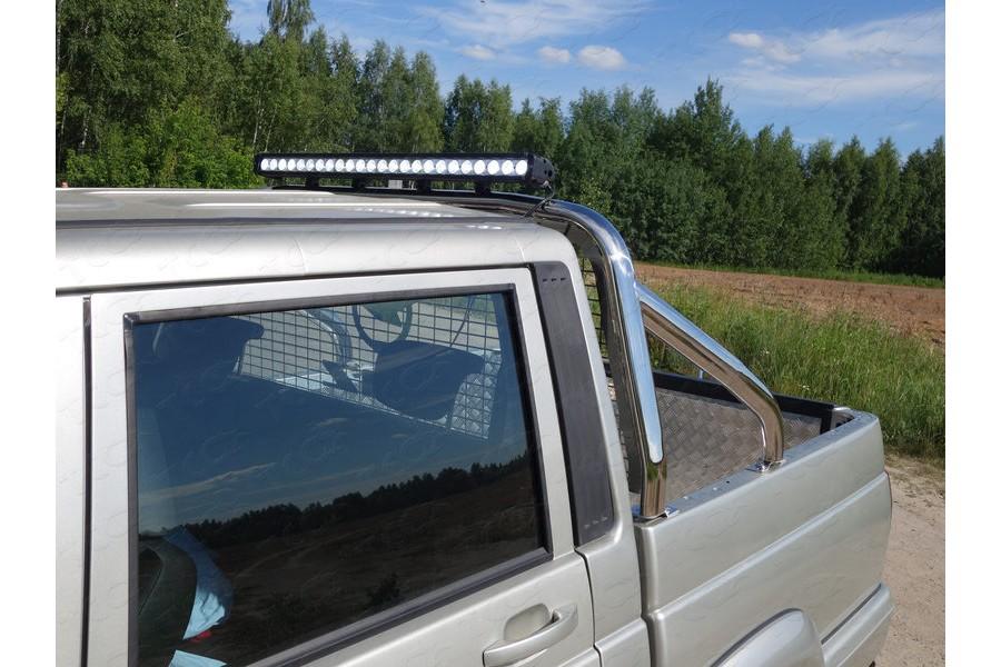 Защита кузова и заднего стекла 75х42 мм со светодиодной фарой