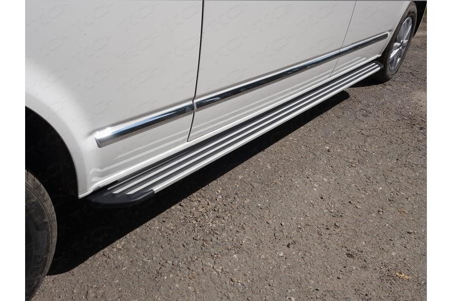 """Пороги алюминиевые """"Slim Line Silver"""" 2520 мм"""