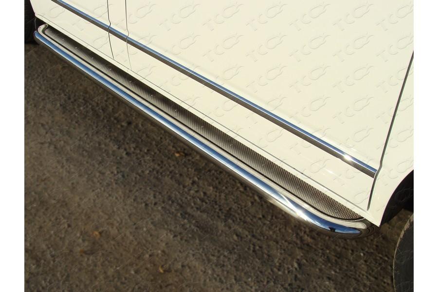 Пороги с площадкой (нерж. лист) 60,3 мм