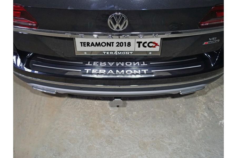 Накладка на задний бампер (лист зеркальный надпись Teramont)