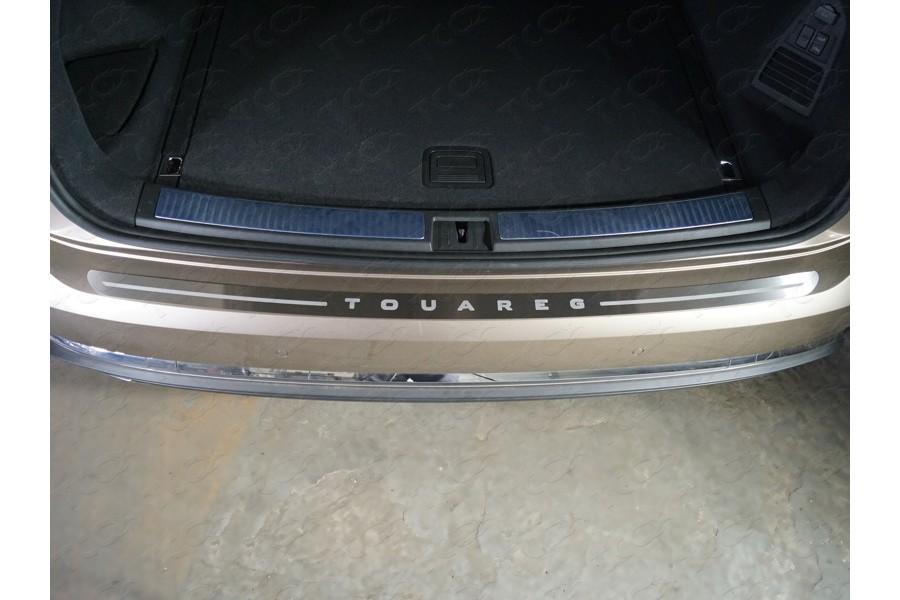 Накладка на задний бампер (лист шлифованный надпись Touareg)