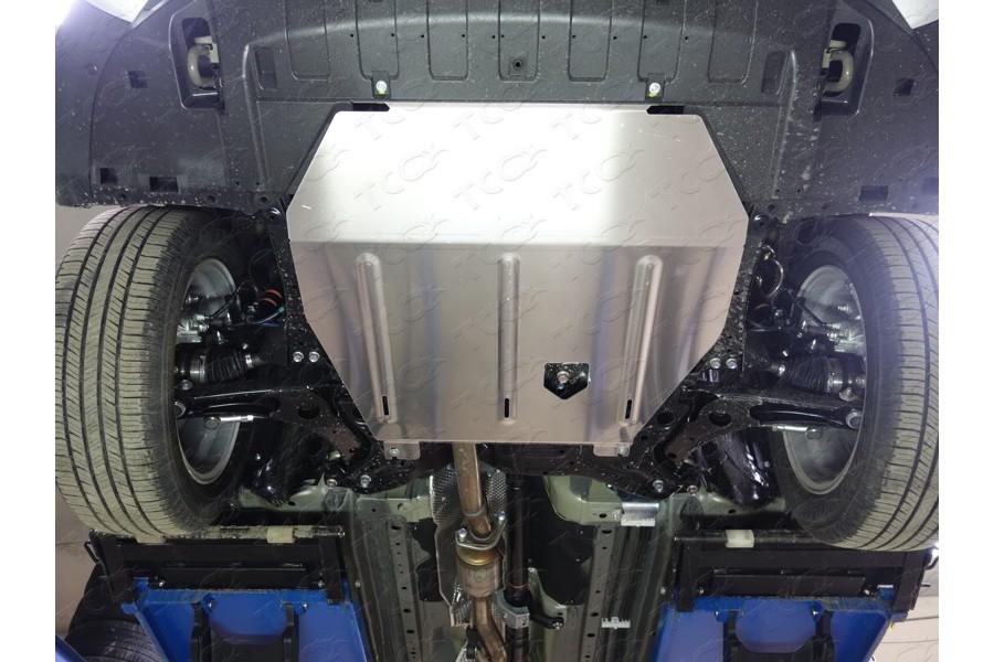 Защита картера и КПП (алюминий) 4мм  4WD