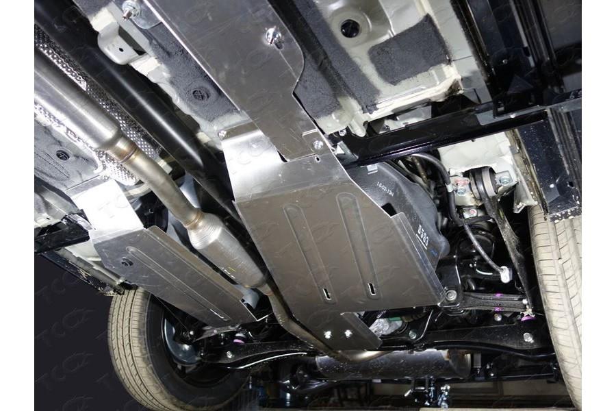 Защита бака левая (алюминий) 4мм 4WD